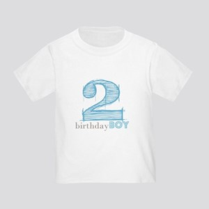 Second Modern Birthday Blue T-Shirt