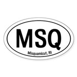 Misquamicut, RI Oval Sticker