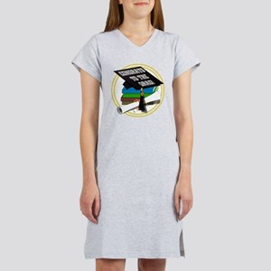 Graduation Cap with Diploma and Women's Nightshirt