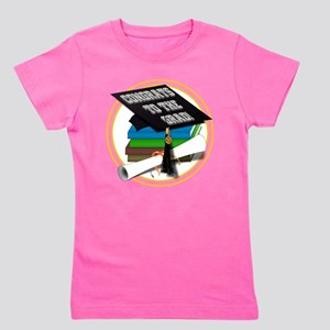 Graduation Cap with Diploma and School Girl's Tee
