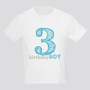 Third Modern Birthday Blue T Shirt