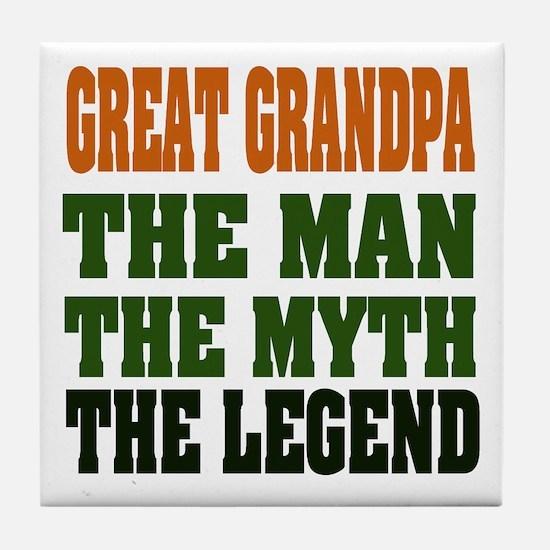 Great Grandpa - The Legend Tile Coaster