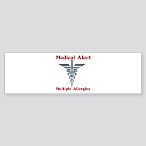 Multiple Allergies Medical Alert As Bumper Sticker