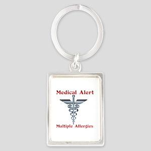 Multiple Allergies Medical Alert Asclepi Keychains