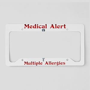 Multiple Allergies Medical Al License Plate Holder