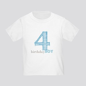 Fourth Modern Birthday Blue T-Shirt