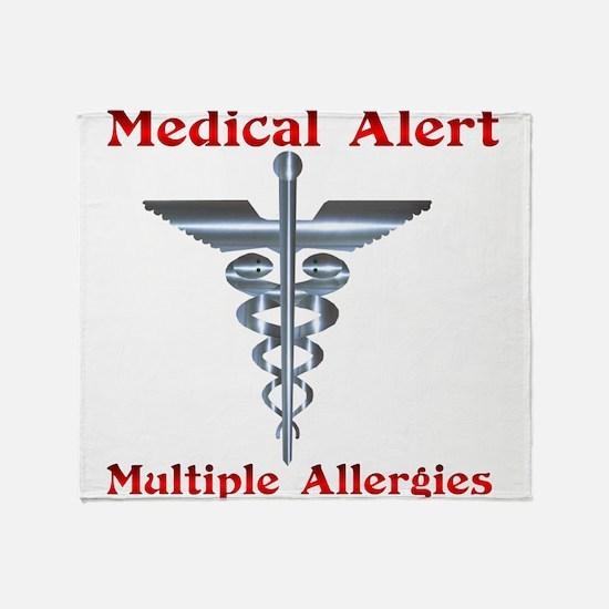 Multiple Allergies Medical Alert Asc Throw Blanket
