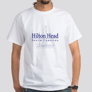 Hilton Head Sailboat White T-Shirt
