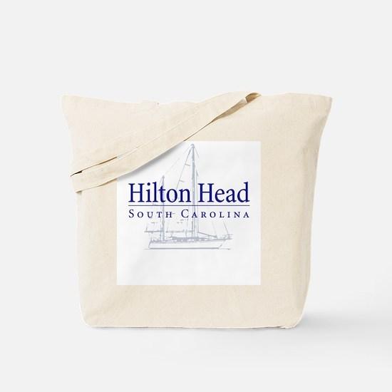 Hilton Head Sailboat Tote or Beach Bag