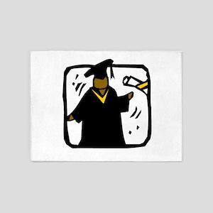 Graduate Receiving Diploma - Ethnic 5'x7'Area Rug