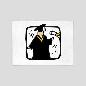 Graduate Receiving Diploma - Gradua 5'x7'Area Rug