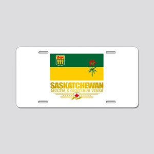 Saskatchewan Flag Aluminum License Plate