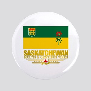 "Saskatchewan Flag 3.5"" Button"