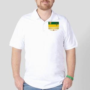 Saskatchewan Flag Golf Shirt