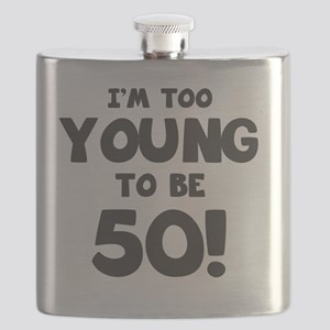 50th Birthday Humor Flask