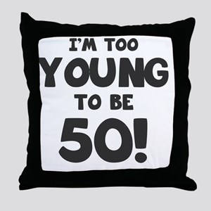 50th Birthday Humor Throw Pillow