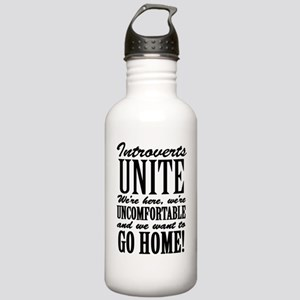 Introverted Introverts Stainless Water Bottle 1.0L