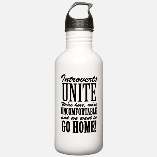 Introverted Introverts Water Bottle