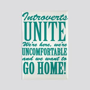 Introverted Introverts Rectangle Magnet