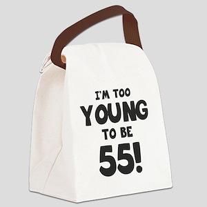 55th Birthday Humor Canvas Lunch Bag