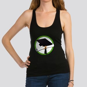 Graduation Cap with Diploma,Gre Racerback Tank Top