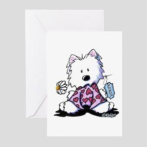 KiniArt Westie OXO Greeting Cards (Pk of 20)