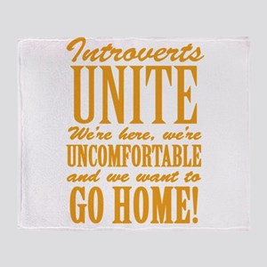Introverted Introverts Throw Blanket