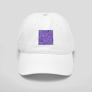 Purple and Blue Floral Cap