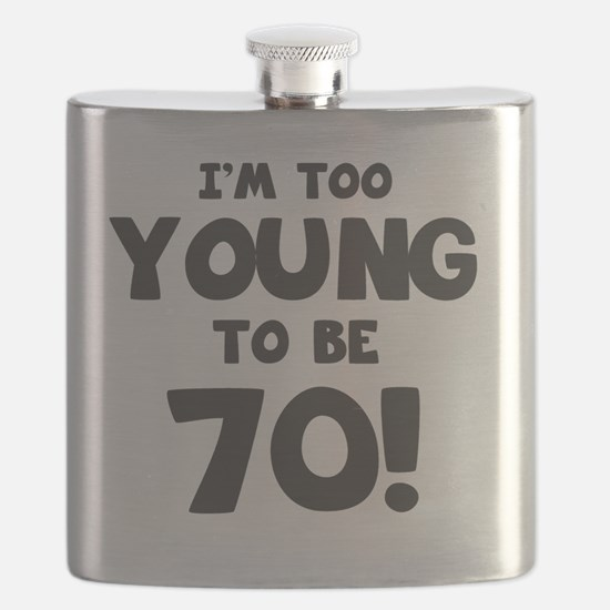 70th Birthday Humor Flask