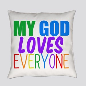 My God Loves Everyday Pillow