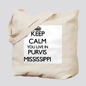 Keep calm you live in Purvis Mississippi Tote Bag