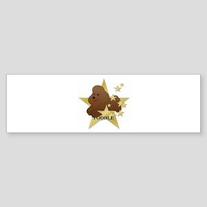Poodle Stars Sticker (Bumper)
