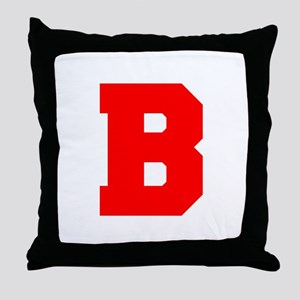 B-Fre red Throw Pillow