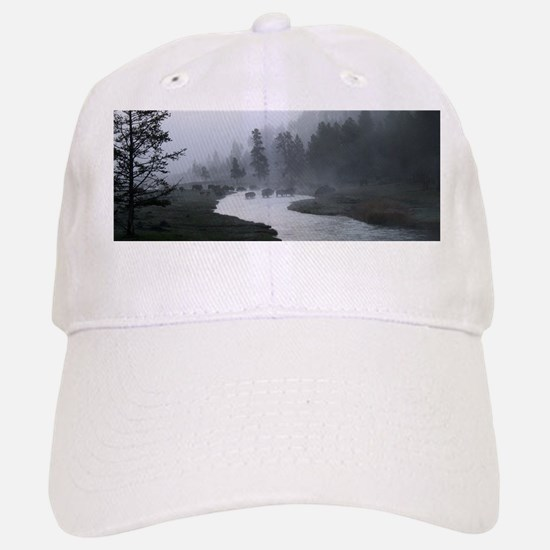 Bison Crossing Baseball Baseball Cap