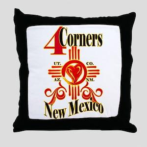 4 CORNERS LOVE Throw Pillow