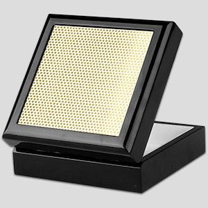 Faux Gold Polka Dots Keepsake Box