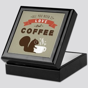 All You Need is Love and Coffee Keepsake Box