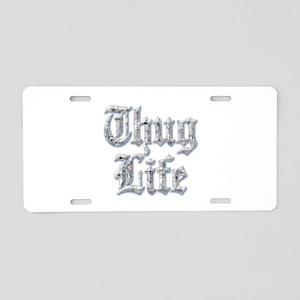 Diamond Bling THUG LIFE Aluminum License Plate
