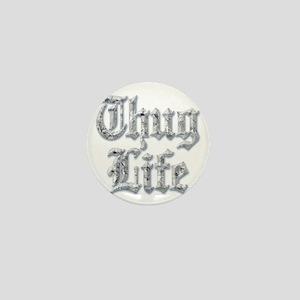 Diamond Bling THUG LIFE Mini Button