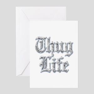 Diamond Bling THUG LIFE Greeting Cards