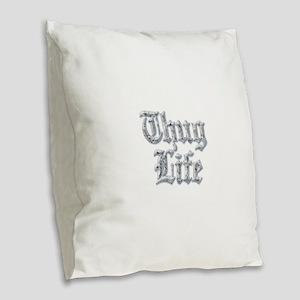 Diamond Bling THUG LIFE Burlap Throw Pillow
