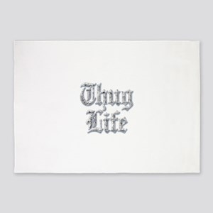 Diamond Bling THUG LIFE 5'x7'Area Rug