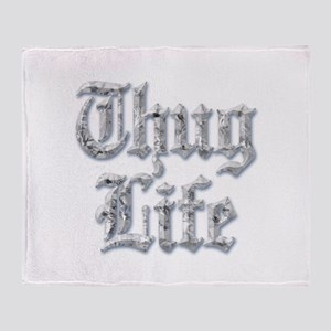 Diamond Bling THUG LIFE Throw Blanket