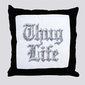 Diamond Bling THUG LIFE Throw Pillow