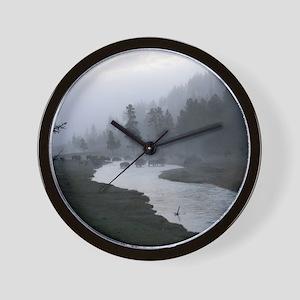 Bison Crossing Wall Clock