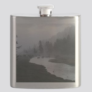 Bison Crossing Flask