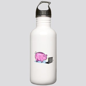 Piggy Bank And Laptop Water Bottle