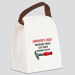 Carpenter's Creed Canvas Lunch Bag