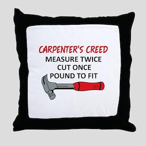 Carpenter's Creed Throw Pillow