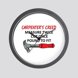 Carpenter's Creed Wall Clock